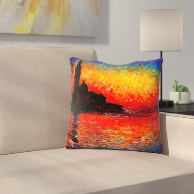 Sunset in Venice Throw Pillow