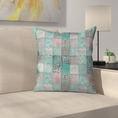 Patchwork Throw Pillow Size: 18 x 18, Color: Green