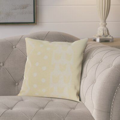Kaylor Pattern Stripe Indoor/Outdoor Throw Pillow Color: Yellow, Size: 18 x 18