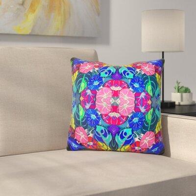 Flowers Kaleidoscope Throw Pillow