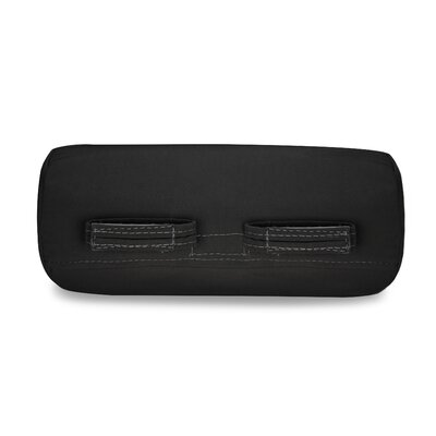 Solid Headrest Outdoor Sunbrella Bolster Color: Black