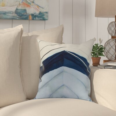 Crider Boat Bow Center Print Indoor/Outdoor Throw Pillow Color: Blue, Size: 18 x 18