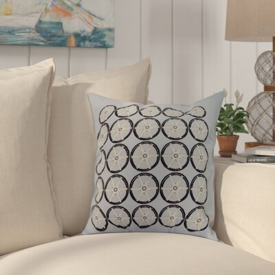 Crider Nautical Geo Square Geometric Print Indoor/Outdoor Throw Pillow Color: Blue, Size: 16 x 16