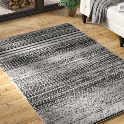 Patel Dark Gray Area Rug Rug Size: Rectangle 9 x 12