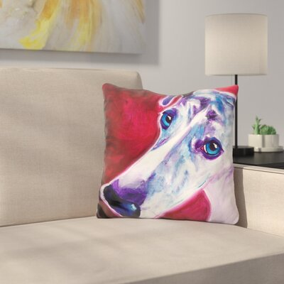 Grayhound Myrtle Throw Pillow