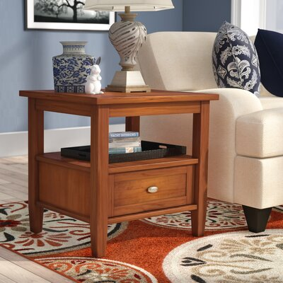 Gendron End Table With Storage� Color: Honey Brown