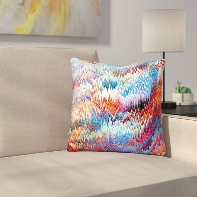 Forest Pixel Throw Pillow