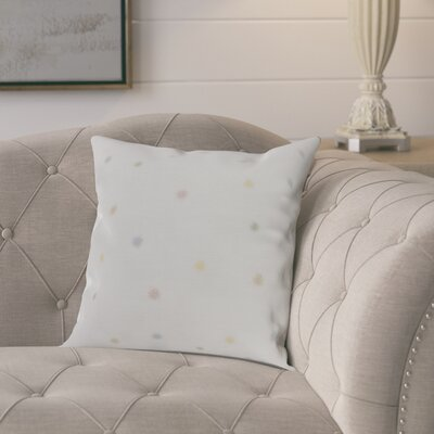 Kaylor Dots Indoor/Outdoor Throw Pillow Color: Pale Pink, Size: 16 x 16
