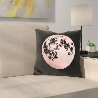 Moon Throw Pillow Color: Black/Pink