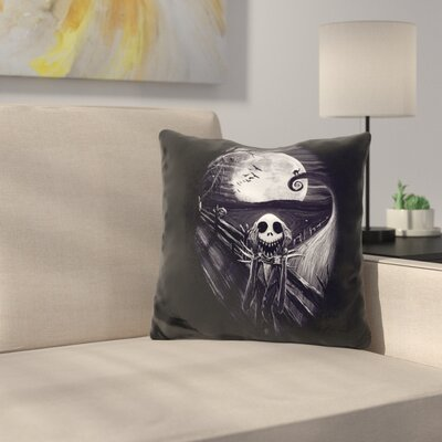 The Scream Before Christmas Throw Pillow Color: Black/White