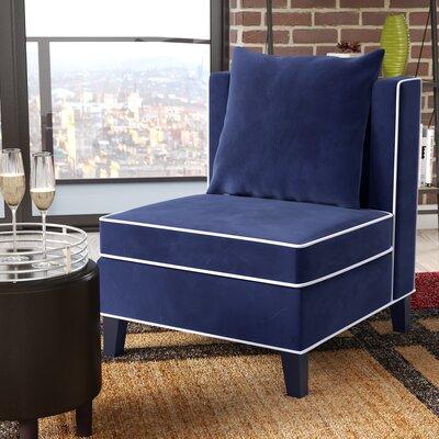 Landen Slipper Chair Upholstery: Blue