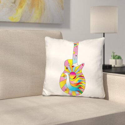 Guitar Dove Throw Pillow
