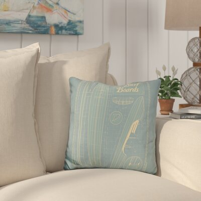Camron Surf Boards Throw Pillow