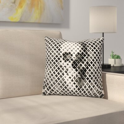 Wicker M Throw Pillow