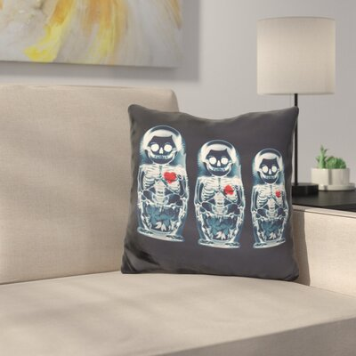 Nesting Doll Sq Throw Pillow