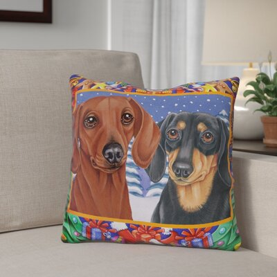 Berkey Christmas Border Throw Pillow
