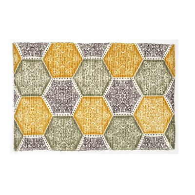 Mullaney Hand-Woven Yellow/Green Area Rug