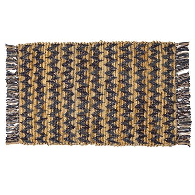 Hammons Chevron Hand-Woven Blue Area Rug