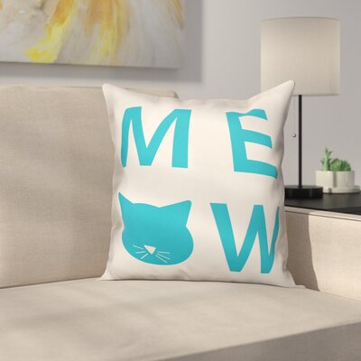 Meow Throw Pillow in , Throw Pillow Size: 16 x 16
