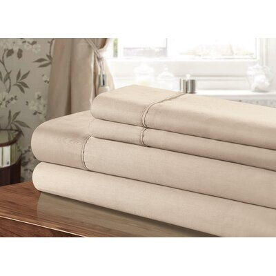 Kadyn 3 Piece 300 Thread Count 100% Cotton Sheet Set