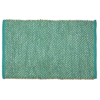 Hammons Chevron Hand-Woven Green Area Rug Rug Size: Rectangle 2 x 3