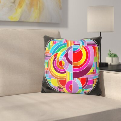 Circles Throw Pillow Color: Yellow