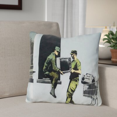 Berning Looting Soldiers Throw Pillow