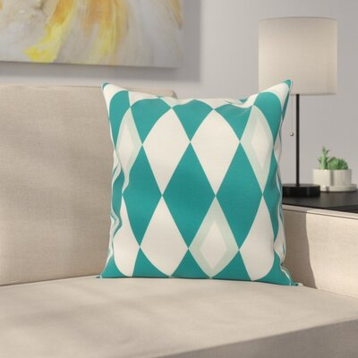 Meehan Geometric Print Indoor/Outdoor Throw Pillow Color: Blue, Size: 18 x 18