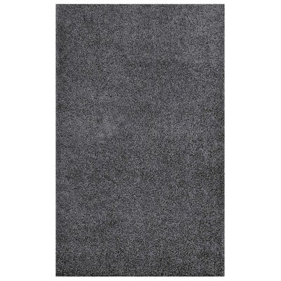 Mickelsen Solid Dark Gray Area Rug Rug Size: Rectangle 5' x 8'