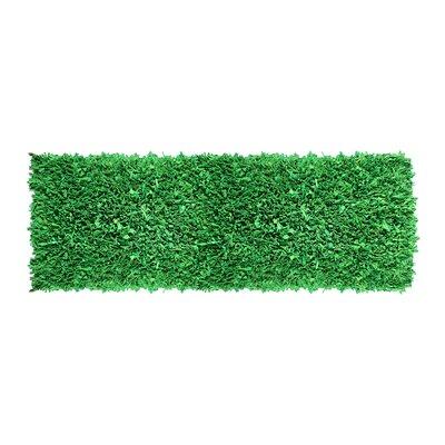 Newberg Shaggy Hand-Woven Green Area Rug Rug Size: Runner 2 x 6