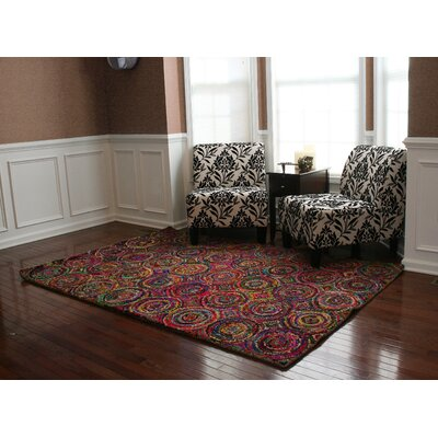 Doster Spiral Hand-Knotted Pink/Red Area Rug
