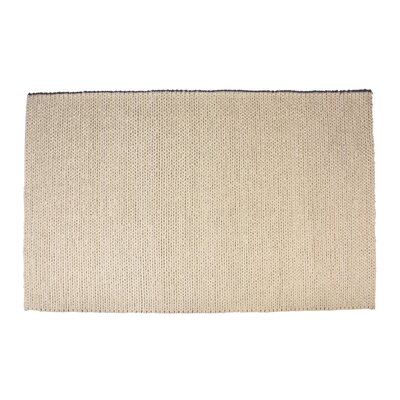 Colton Hand-Woven Wool White Area Rug