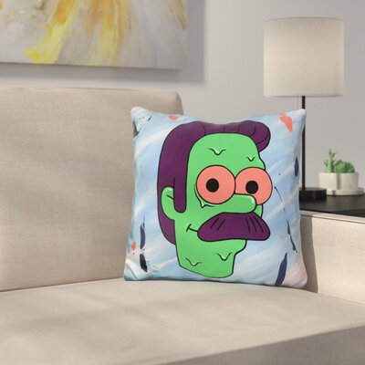 Zombie Ned Throw Pillow