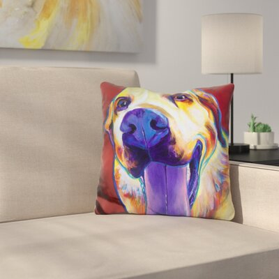 Lab Mozart Throw Pillow