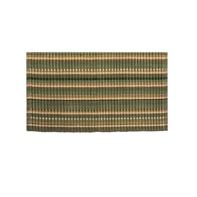 Baldock Silk Ribbed Hand-Woven Dark Green Area Rug Rug Size: Rectangle 19 x 210