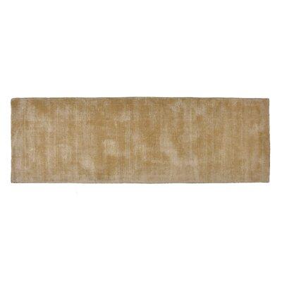 Pressley Hand-Woven Wool Beige Area Rug Rug Size: Runner 2x 6