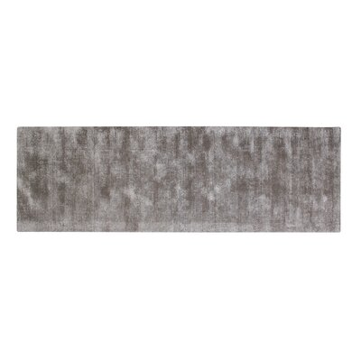 Pressley Hand-Woven Wool Gray Area Rug Rug Size: Runner 2x 6