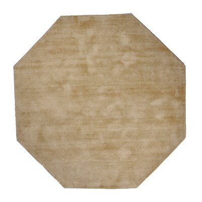 Pressley Hand-Woven Wool Mist Area Rug Rug Size: Octagon 5 x 5