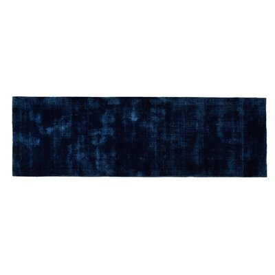 Pressley Hand-Woven Wool Teal Area Rug Rug Size: Runner 2x 6