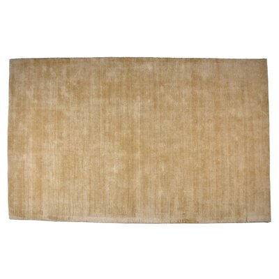 Pressley Hand-Woven Wool Beige Area Rug Rug Size: Rectangle 5x 8