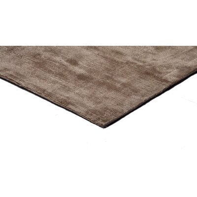 Pressley Hand-Woven Wool Taupe Area Rug Rug Size: Rectangle 5x 8