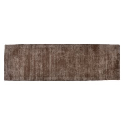 Pressley Hand-Woven Wool Taupe Area Rug Rug Size: Runner 2x 6