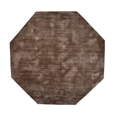 Pressley Hand-Woven Wool Taupe Area Rug Rug Size: Octagon 5 x 5
