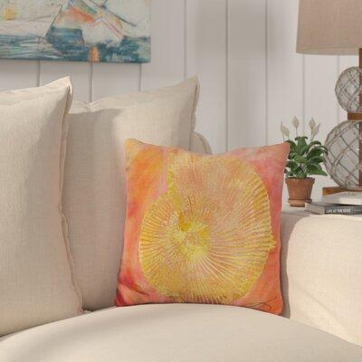Buckelew Seashell Throw Pillow Color: Orange