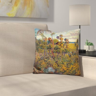 Sunset At Montmajour Throw Pillow