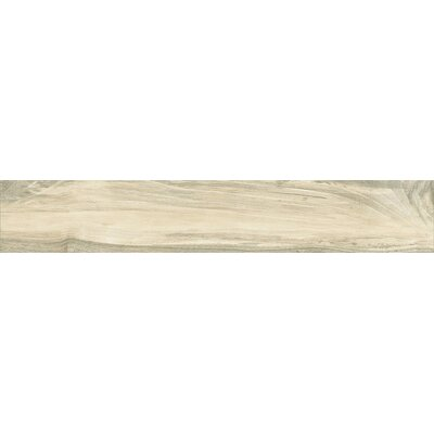 Abete 10 x 40 Porcelain Wood Look Tile in Brown
