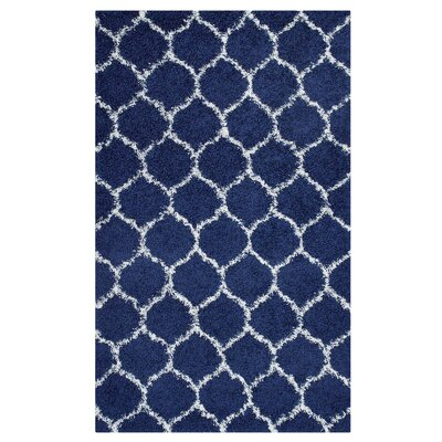 Eleftheria Moroccan Trellis Navy Blue/Ivory Area Rug Rug Size: Rectangle 8 x 10