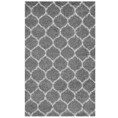 Eleftheria Moroccan Trellis Gray/Ivory Area Rug Rug Size: Rectangle 8 x 10
