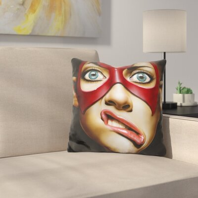 Crooked Smile Throw Pillow