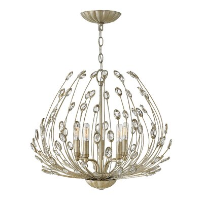 Tulah Single Tier 5-Light Crystal Pendant